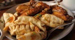 Pork Fried Dumplings and Honey Coriander Chicken Wings Ohana Polynesian fb crop