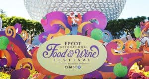 Epcot Spaceship Earth Food and Wine Festival Sign 3 fb crop