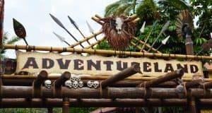 Magic Kingdom Adventureland Sign Entrance 2 fb crop