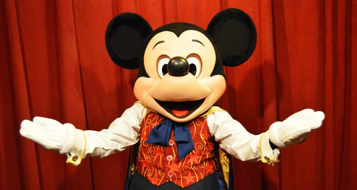 Magic Kingdom Talking Mickey Mouse Meet and Greet Mouth Open fb crop