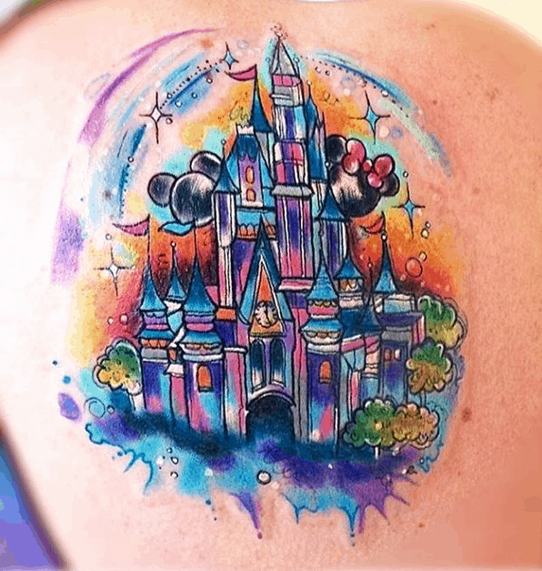 d8b986fac 35 Magical Disney Tattoos That Will Make You Want to Get Inked. 5. Cinderella  castle ...