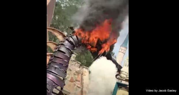 Maleficent Dragon Catches Fire At Walt Disney World ...