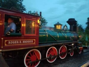 Roger E. Broggie locomotive train disney world