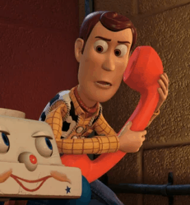 woody phone toy story